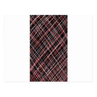 Pink and Black Tweed Postcard