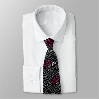 Pink and Black Yoga Retreat Formal Tie