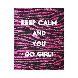 Pink and Black Zebra Print bling (faux glitter)