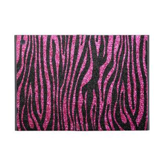 Pink and Black Zebra Print bling (faux glitter) iPad Mini Cover