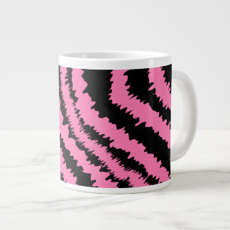 Pink and Black Zebra Print Pattern Jumbo Mug