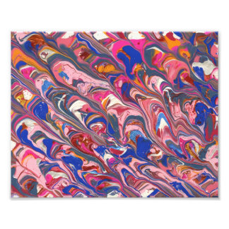 Pink and Blue abstract painting Photo Art