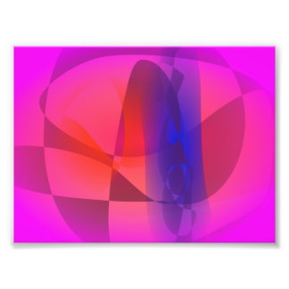 Pink and Blue Abstract World Photo