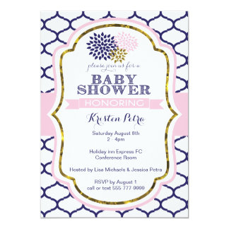 Pink and Blue Baby Shower invite