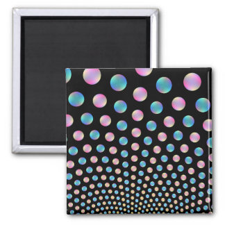 Pink and Blue Balls Square Magnet