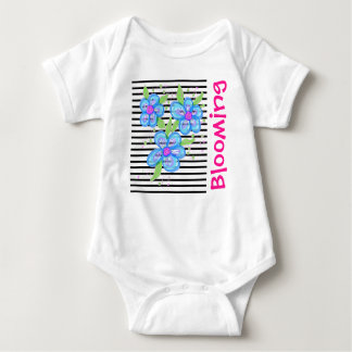Pink And Blue Blooming Baby Outfit Baby Bodysuit