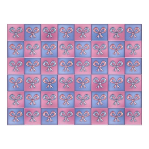 Pink and Blue Bows Posters
