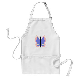 Pink And Blue Butterfly Aprons