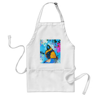 Pink and Blue Butterfly Line Standard Apron