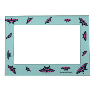 Pink and Blue Butterfly Magnetic Frame