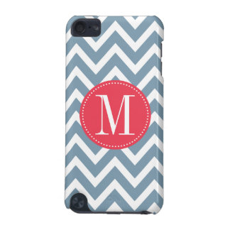 Pink and Blue Chevron Custom Monogram iPod Touch (5th Generation) Case