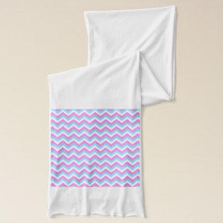 Pink and Blue Chevron Zig Zag Stripes. Scarf