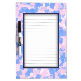 Pink and Blue Confetti Dry Erase Board