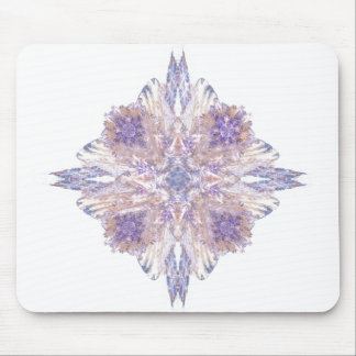Pink and Blue Diamond Fractal Art Mousepad
