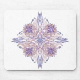Pink and Blue Diamond Fractal Art Mousepad