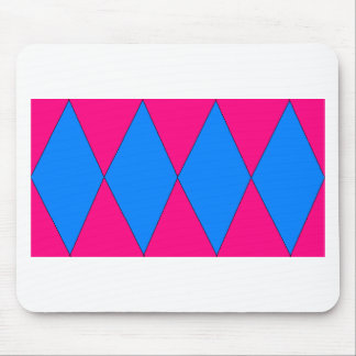 pink and blue diamond mousepad