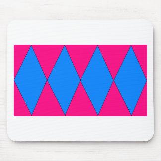 pink and blue diamond mousepad