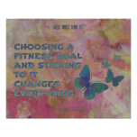 Pink and Blue Fitness Butterflies Poster