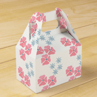 Pink and blue floral gift/favour box