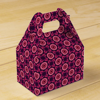 Pink And Blue Flower Pattern Favour Box