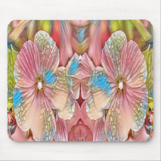 pink and blue flowers mouse mat
