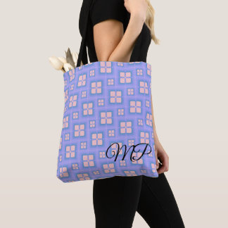 Pink and Blue Four Square Retro Windows Tote Bag