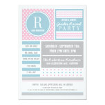 Pink and Blue Gender Reveal Party Invitation 13 Cm X 18 Cm Invitation Card