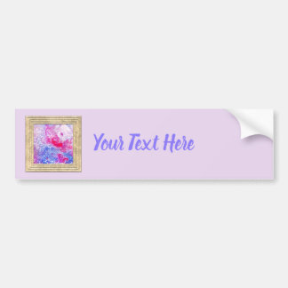 Pink And Blue Glitter Bumper Sticker