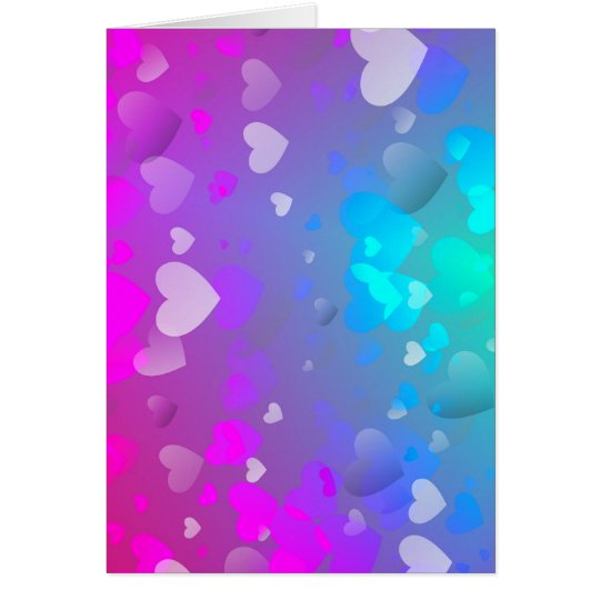 Pink and Blue Hearts Card
