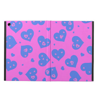 Pink and Blue Hearts iPad Air Cases