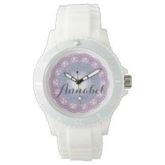 Pink and Blue Lace with Name Watch