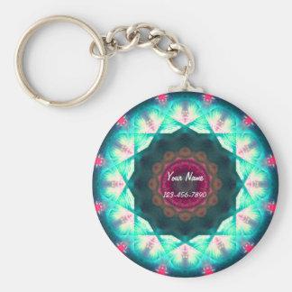 Pink and Blue Mandala Key Ring