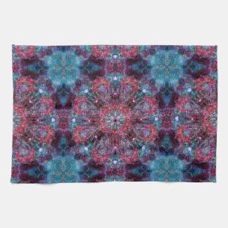 Pink and Blue Mandala Tea Towel