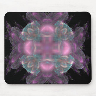Pink And Blue Medallion Mouse Pad