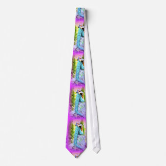 pink and blue mermaid napping tie