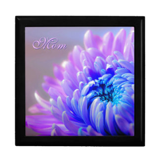 Pink and Blue Mum *Personalize* Large Square Gift Box