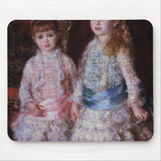 Pink and Blue or, The Cahen d'Anvers Girls, 1881 Mousepads