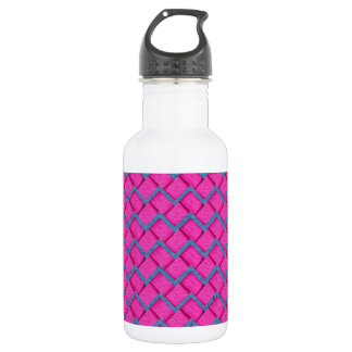 Pink and Blue Paper Zig Zag 532 Ml Water Bottle