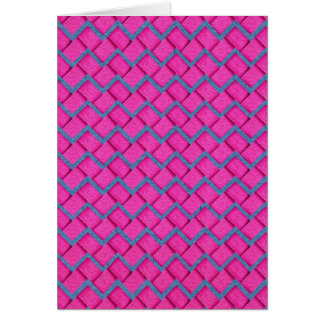 Pink and Blue Paper Zig Zag Greeting Card