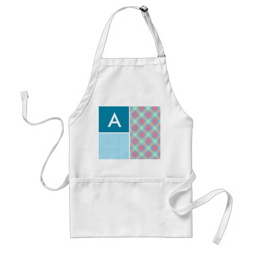 Pink and Blue Plaid Aprons