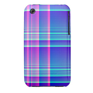 Pink and Blue Plaid iPhone 3 Case-Mate Cases