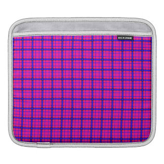 Pink and Blue Plaid Sleeve For iPads