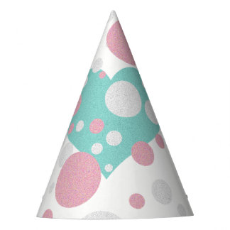 Pink and Blue Polka Dot Shower Party Hat