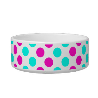 Pink and Blue Polka Dots Bowl