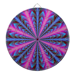 Pink and Blue Radiation Dartboard