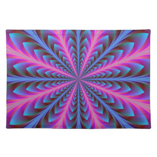Pink and Blue Radiation Placemats