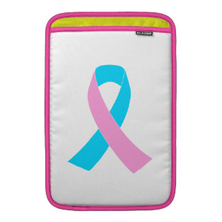 Pink and Blue Ribbon Awareness Sleeves For MacBook Air