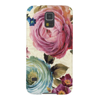 Pink and Blue Rose Case For Galaxy S5