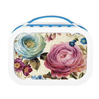 Pink and Blue Rose Lunch Box
