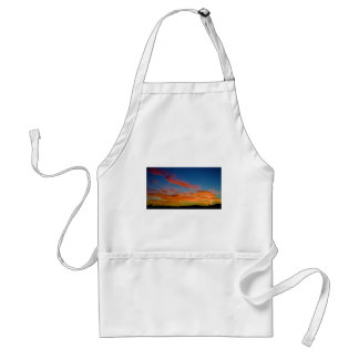 pink and blue sky apron